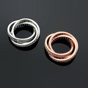 أوروبا أمريكا fashionstyle سيدة النساء التيتانيوم الصلب محفورة كاليفورنيا الأحرف ثلاث دائرة حلقات الماس الكامل US6-US8