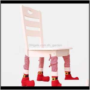 Festive Party Supplies Garden Drop Delivery 2021 Foot Home Decorations Dining Table Cover Stool Leg Christmas Chair Covers Db045 Cnbsz