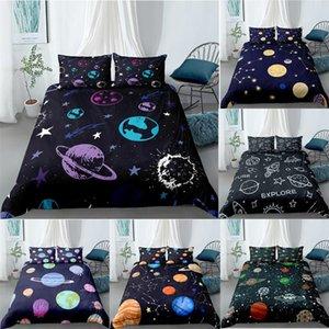 Bedding Sets ZEIMON 2 3Pcs Cartoon 3D Set Planet Stars Duvet Cover With Pillowcase Kids Quilt Home Textiles King Bedroom Decor