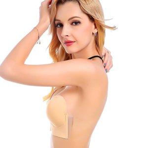 Deep U One-piece Side Silicone Invisible Half-piece Underwear Sticker Strapless Bra