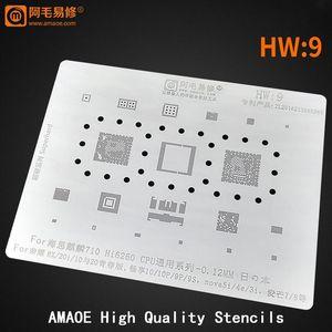 Kirin710 Hi6260 8x / 20i / 10/20 CPU / RAM Onur Lite / NOVA 5I / 4E / 3I EMMC PMIC PM IC Çip BGA Reballing Stencil Şablon Cep Telefonu Tamir