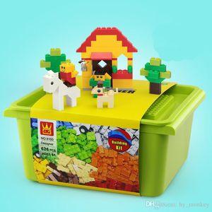 626 pcs puzzle building blocks kits DIY toys colorful bricks accessories for children kids creative educational design gift 03