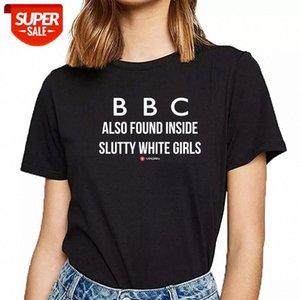 Camiseta Mulheres BBC Branco Novo Verão Harajuku Algodão Feminino Partido de Camisa # 5H64