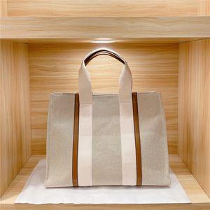 Compras Shopper Womens Fashion Totes Bolsos Bolsa de hombro Mujeres Canvas Woody Tote Bolsos Monederos Pequeño Medio Grande Alta Calidad Bolso
