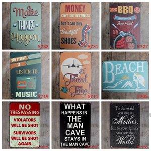 Retro Metal Tin Sign Kitchen Baño Familia Romántica Poesía Metal Pintura Bar Pub Cafe Home Restaurant Decor Vintage Tin Signos DHD6216