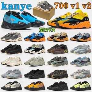 Wholesal Utility Black men 500 Shoes Soft Vision Mist reflective Orange Phosphor Tephra Stone mens discount 700 athletic shoes