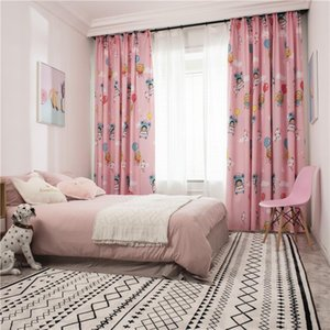 Curtain & Drapes Pink Color Window Curtains For Girl Living Room Kids Children Bedroom Kitchen Soft Hand Feeling Custom Made