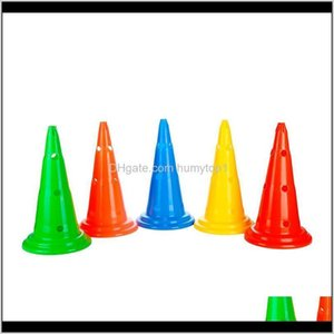Balls Athletic Outdoor Accs Sports & Outdoors Drop Delivery 2021 6Pcs Lot 30Cm Round Bottom Sport Rugby Training Cone Soccer Marker Disc Mark