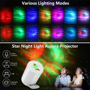 Night Light Starry Sky Projector Water Wave Lamp LED star music Rotating Remote Control Bluetooth Bedroom Bedside Lamps