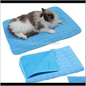 Pens Dog Supplies Home Garden Wholesale Cool Small Cat Cooling House Kennels Sofa Breathable Pet Bed Mats Summer Pad Mat Bh3599 Tqq Dr