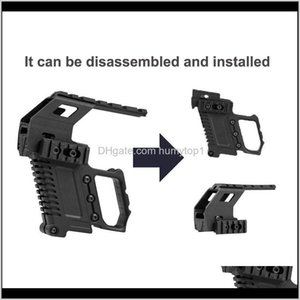 Airsoft Tactical Rail Base Adapter System Quick Reload Mount Stock For G17 G18 G19 Carbine Kit Accessories 274 W2 C3Fsb U6Gb9