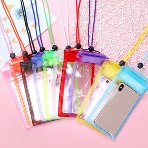 Evrensel Ekran Dokunulabilir Torbalar Çanta PVC Koruyucu Telefon Çantası Için Su Geçirmez Kılıfı Için Iphone Dalış Yüzme Spa