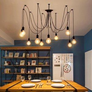 Modern LED Lamp Metal Chandelier Light Villa Pendant Lights Living Room Kitchen Lustre Cristal Hanging Lighting for Home