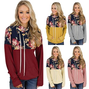 Famous designer women's hoodie stacking collar printing drawstring sweater fashionable and comfortable