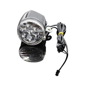 Electric Bicycle Headlight Bike Connector 200cm Wire MTB Road Front Lamp On Fork Motorcycle Ebike LED Light Velo Lights