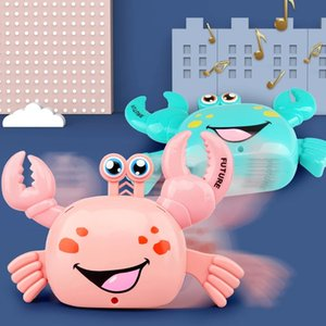 Funny and Cute Electric Animal Toy Non-Landing Cartoon Animal Stunt Crab Glow With Music Walk Multi-Function Will Not Fall Crabs