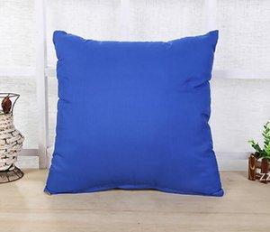 45 * 45CM Home Sofa Throw Pillowcase Pure Color Polyester White Pillow Cover Cushion Pillow Case Blank christmas Decor Gift HWF10285