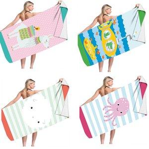 만화 해변 수건 사각형 양털 수건 160 * 어린이를위한 80cm 어린이 아기 어린 소년 소녀 수영 목욕 샤워 피크닉 앉아 매트 쿠션