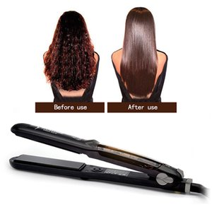 Curly to Straight Hair Instagram Famous Professional Steam Flat Iron Ceramic Vapor Heater Salon Straightening Irons