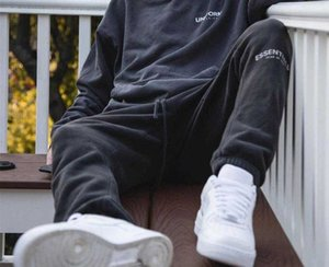 NEW INS FOG Essentials Fear of God Pants Reflective Embroidery Sweatpant