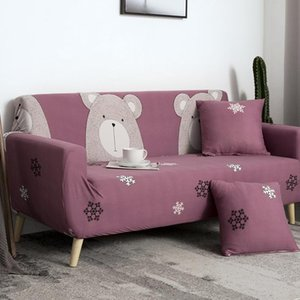 Chair Covers Pink Cartoon Protector Sofa Cover Slipcover Furniture Couch For Living Room Corner Elastic