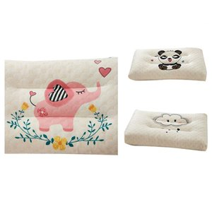 Kids Pillow Natural Latex Baby Bed Pillows For Sleeping Cartoon Printing Children 0-12 Years Old