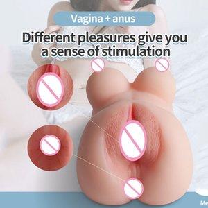Male Masturbator Realistic Vagina Real Pussy Breast Anal Nipples Ass Masturbator Pocket Pussy Sex Doll Torso Masturbator For Man 210407