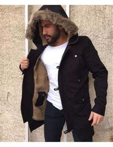 Artı Boyutu Tasarımcı Moda Rahat Uzun Kollu Katı Renk Kapüşonlu Polar Ceketler 20FW Erkek Kış Ceket