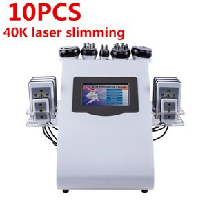 220V EU Plug 6 in 1 Vacuum Laser Radio Frequency RF 40K Cavi Lipo Slimming Ultrasonic Liposuction Cavitation Machine For Spa