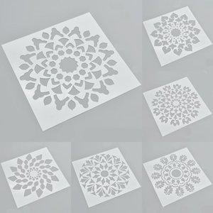 Подарочная обертка 6шт / набор цветок тема наслоение трафаретов для стен роспись скрапбукинга марки декоративные тиснение бумажный шаблон карты