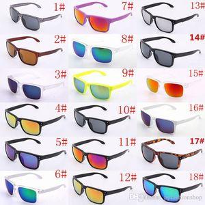 Роскошные солнцезащитные очки UV400 Защита мужчин Женщины Унисекс Летний Затенок Очки Открытый Спорт Велоспорт Солнце Стекло 18 Цветов