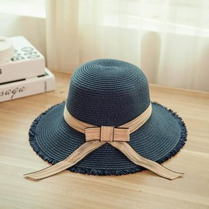 Summer Style Straw Hat Ladies Fashion Casual Big Bow Seaside Personality Sunshade Beach Sunhat Wide Brim Hats