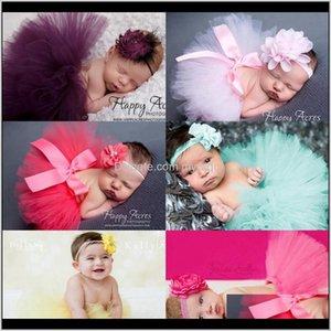 Skirts Born Dress Designer Toddler Tutu Skirt Headband 2Pcs Sets Baby Girl Clothes Po Kids Clothing 7 Designs Optional Dhw2212 Pkyfl Baat7