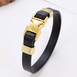 Fashion Genuine Leather Bracelets For Women Unique Spring-ring-clasps Charm Classic Jewelry Wholesale