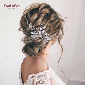 Clip per capelli Barrettes YouLapan HP103-1 Matrimonio U Pin Accessori da sposa Accessori da sposa fai da te Clip di cristallo a forma di U