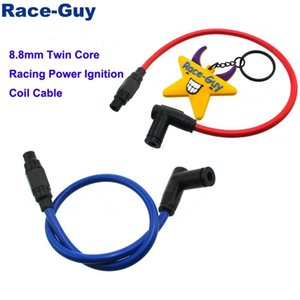 8.8mm Twin Core Racing Power Cable Ignition Coil For Motorcycle ATV Quad Dirt Pit Trail Motor Bike Go Kart Cart Engine Assembly