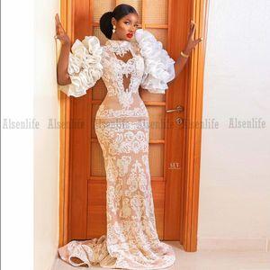 Festiva Mermaid Prom Dress High Neck Appliques Lace Black Girl Vestidos De Fiesta Cheap Bride Party Evening Formal Dress
