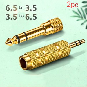 2pc Lot Audio Connector Female to Male Guitar Stereos Headphone Jack Audios Adapter Kit for Jacks Amplifier Conventer or stereo amplifie 3.5mm - 6.5mm