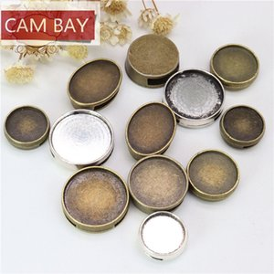 Fit 12-14-16-18-13*18MM Alloy Vintage Through-Hole Bracelet Watch Settings Cabochon Cameo Base Tray Bezel Blank DIY Jewelry Findings 100pcs