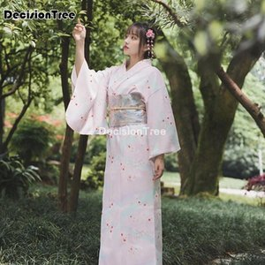 Traditional Japanese Costume Kimono Dress For Women Sakura Yukata Kawaii Girls Anime Cosplay Daily Geisha Robe Ethnic Clothing