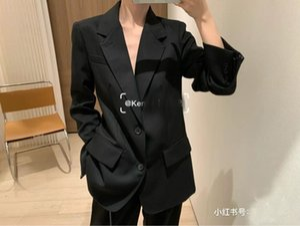 Spring Luxury Women High Quality Black Wool Blazer Jacket For Ladies Fashion Coat Gdnz 4.20 Women's Suits & Blazers