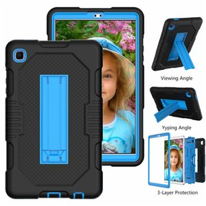 tablet Case For iPad 10.2 10.9 11 12.9 9.7 Inch mini45 samsung T290 T500 T220 T870 P610 PC+TPU portable Shockproof Kickstand PC cover
