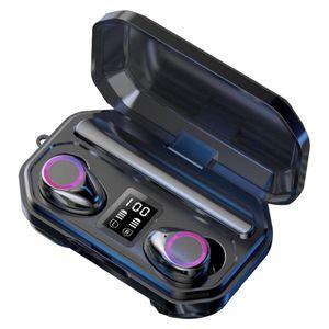 M12 Bluetooth 5.0 Headphones Wireless Earphones Stereo Headset Flashlight LED Display Headsets with Retail Box