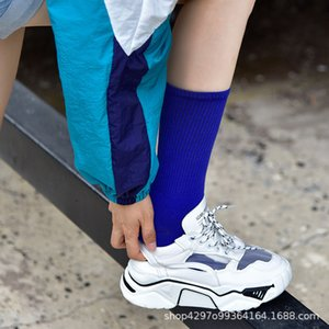 Men's and women's clothingbrand Long tube hook NK fashion candy women's couple's sports sock solid color high help matching number TDQP