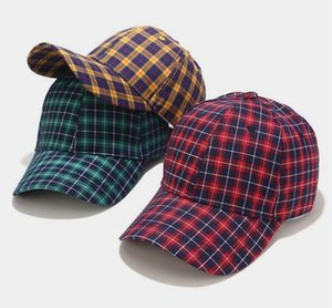 Other Home & Garden Adjustable hat summer student fashion plaid baseball cap female simple casual caps male sunhat
