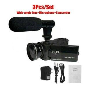 Camcorders 1080p 16x Zoom Digital Camcorder Video Camera Dv External Recorder Microphone J9q2