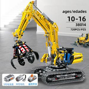 DIY children's engineering excavator, building block game, urban construction truck, technical building block, toy, children's car, energy