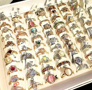 Mixed Men's And Women's Fashion Diamond Rings Valentine's Day Gifts