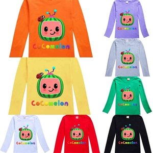 Spring Clothes Boys Girls Long Sleeve T-shirt Cotton Children's Pullovers Tops Cocomelon Cartoon Printed Round Neck Fashion Shirt G49F4LM