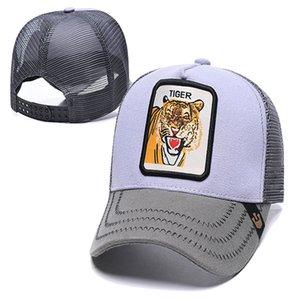 luxury- Summer Bee Mesh Hats Women Fashion Visor Hat Men Embroidery Tiger Baseball Caps Adjustable Snapback Animals Golf Ball Cap